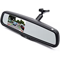 Car Interior Replacement Rear View Mirror Built in 4.3 TFT LCD Monitor+ Bracket