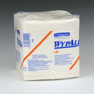 ly-Clark WypAll L40 Light-Duty Wipers - 1/4 Fold Pkg (1 Box) - AB-35-3-40 ()