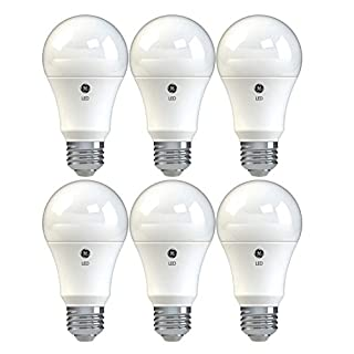 GE Dimmable LED Light Bulbs, A19 General Purpose (60 Watt Replacement LED Light Bulbs), 800 Lumen, Medium Base Light Bulbs, Soft White, 6-Pack LED Bulbs
