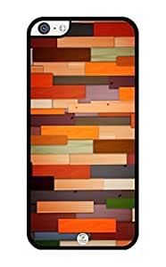 MMZ DIY PHONE CASEiZERCASE Colorful Wood Panels Pattern RUBBER iphone 5/5s case - Fits iphone 5/5s T-Mobile, AT&T, Sprint, Verizon and International