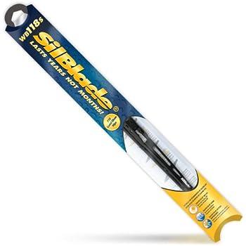 Silblade WB118S Premium Black Silicone Wiper Blade, 18