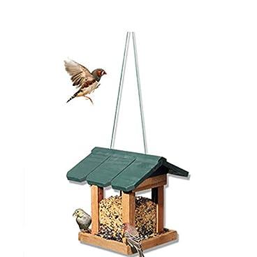 Owenqian-wnq Transparent bird feeder Traditional Wooden Weatherproof Bird Feeder House Design Hanging Decoration For Outdoor Patio Bird Table Free Standing Suction cup outdoor bird house feeder