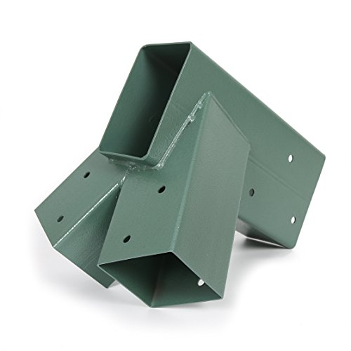 """7BLACKSMITHS Metal A-Frame Swing Bracket For 2 (4""""X4"""") Legs & 1 (4""""X6"""") Beam with All Mounting (A-frame Brackets)"""