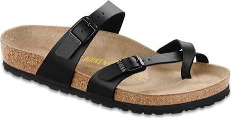 Birkenstock Women's Mayari Birkibuc Sandal, Black, Size 8.0
