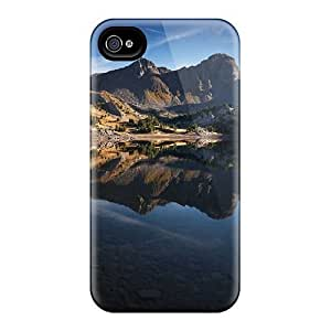 Fashionable Style Case Cover Skin For Iphone 4/4s- Mountain Lake 17912 by icecream design