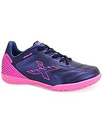Chuteira Futsal Oxn Agilis Infantil Marinho/pink