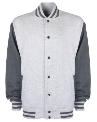 Fundamental nbsp;– Hombres Grey multicolor Charcoal Heather nbsp;Chaqueta de Varsity FDM Oq7ZdxwP7