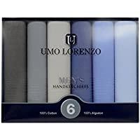 Men's 6 PC Boxed Fancy 100% Cotton Handkerchiefs