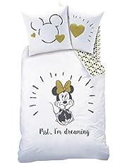 Disney Mimmi Pigg sängkläder set – flicksängkläder – 1 örngott 80 x 80 + 1 påslakan 135 x 200 cm – 100 % bomull