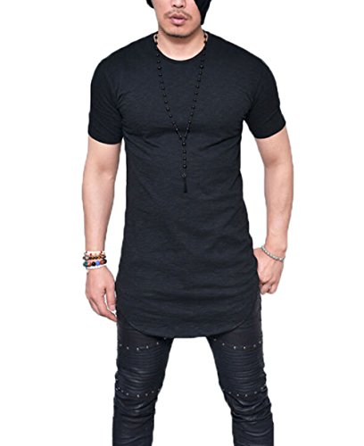 Men's Long Sleeve Slim Fit Thin T-Shirt Round Neck Breathable Autumn Blouse Tops