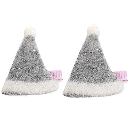 2PCS Baby Girl Christmas Hat Shape Hairpin Headdress Headband Hair Band from Leedford (Free Size, - Facial Pictures Shapes