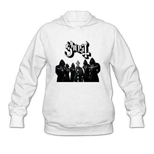 SAMMOI Popestar-Ghost B.C. 2 Men's Fashion Hoodie XL White ()