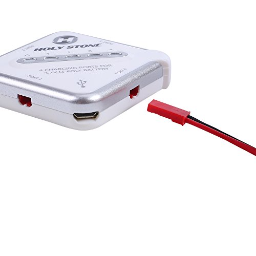 Holy Stone 4-in-1 Battery Charger and 4Pcs 3.7V 750mAh Rechargeable Li-Po RC Drone Batteries for F181C