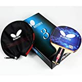 Butterfly 302 Chinese Penhold/Shakehand Table Tennis Racket Set - 1 Ping Pong Paddle - 1 Ping Pong Paddle Case - Gift Box - ITTF Approved
