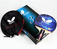 Butterfly 302 Chinese Penhold/Shakehand Table Tennis Racket Set - 1 Ping Pong Paddle - 1 Ping Pong Paddle Case
