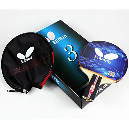 Butterfly 302 Chinese Penhold Table Tennis Racket Set - 1 Ping Pong Paddle - 1 Ping Pong Paddle Case - Gift Box - ITTF Approved (Best Butterfly Ping Pong Paddle)