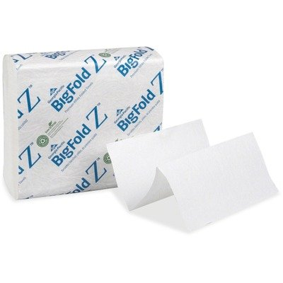 Bigfold Towel Z-fold (BigFoldamp;reg; - Z C-Fold Replacement Paper Towels, 8 x 11, White, 260/Pack, 10/Carton - Sold As 1 Carton - Towels dispense singly and fully open for more effective hand-drying.)