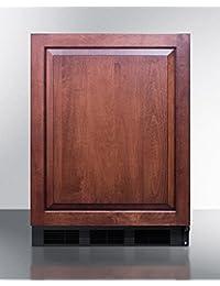 Summit FS407LBIFR Refrigerator, Burgundy
