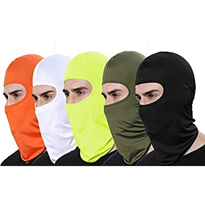 GANWAY Pack of 5 Thin Sun Balaclava Winter Ski Mask for Men Outdoor Cycling Motorcycle Airsoft Fishing Hunting Mask: Sports & Outdoors