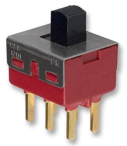 1203M1S3CQE2 - Slide Switch, 1000 Series, DPDT, Vertical, Panel, 6 A, 250 V RoHS Compliant: Yes (Pack of 2) (1203M1S3CQE2) by C & K COMPONENTS
