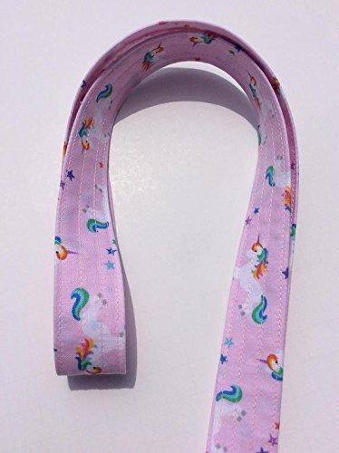 Unicorn Lanyard ID Badge Key Keeper Keychain Camera Strap Fabric Pink Unicorns and Rainbows 6