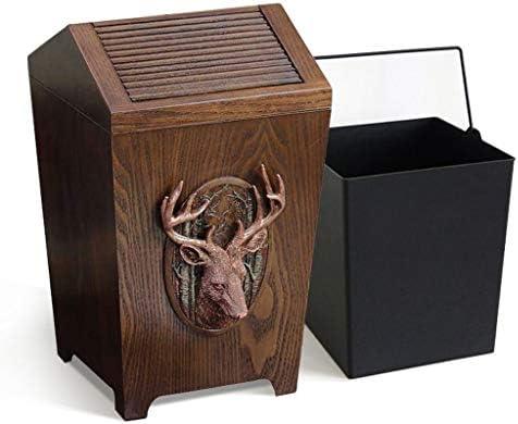 ゴミ袋 ゴミ箱用アクセサリ アメリカンスタイルのフリップゴミ箱することができますレトロクリエイティブホームベッドルームキッチン収納バケツ キッチンゴミ箱 (Color : Deer head, サイズ : A)