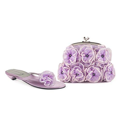 FARFALLA - Zuecos para mujer Lilac
