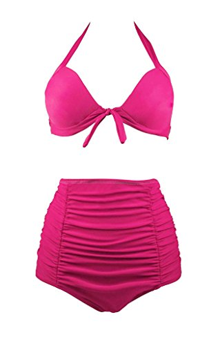 Wantdo Womens Ruched Halter Swimsuit product image
