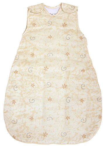 Baby Sleeping Bag Little Lamb, Quilted Winter Model, 100% Cotton 2.5 Togs (Large (22 mos - 3T))