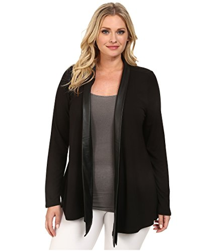 Lysse Women's Plus Size Canyon Drape Wrap, Black 2X