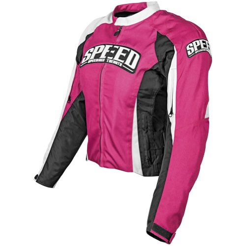 Speed and Strength Top Dead Center Women's Textile On Road Motorcycle Jacket - Pink / Small