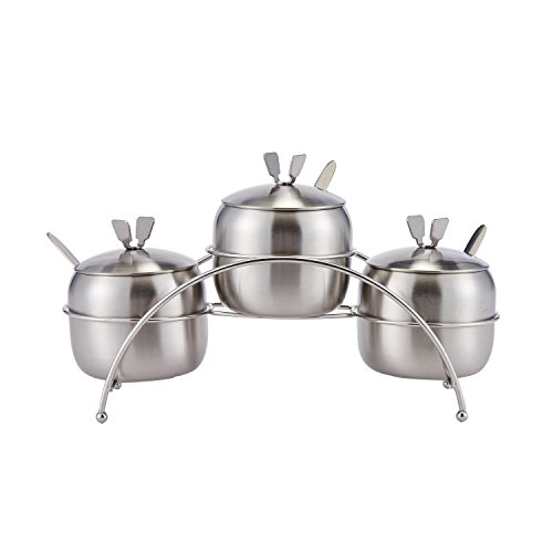 Stainless Steel Condiment Containers Seasoning
