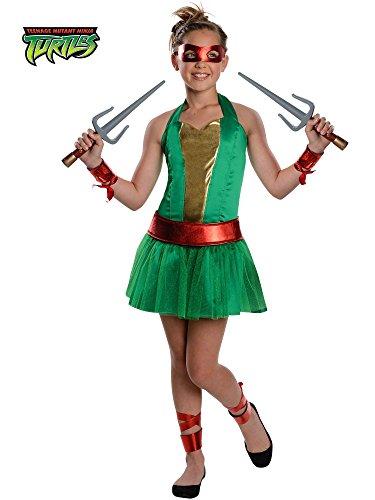 Teenage Mutant Ninja Turtles Raphael Girl Costume for Tweens ()