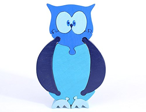 Blue Owl Puzzle and Children's Room Decor