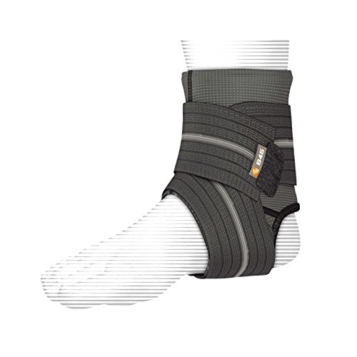 Shock Doctor Ankle Sleeve with Compression Wrap Support (Black, Medium) by Shock Doctor