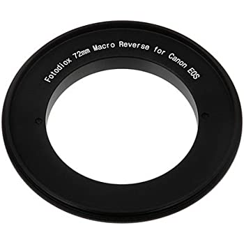 Fotodiox 72mm Macro Reverse Mount Adapter for Canon EOS Camera with 72mm filter thread lenses