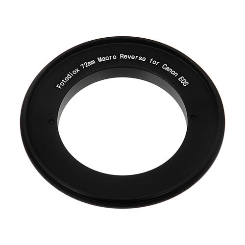 Fotodiox 72mm Macro Reverse Mount Adapter for Canon EOS Camera with 72mm filter thread lenses 10-Reverse-Canon-72