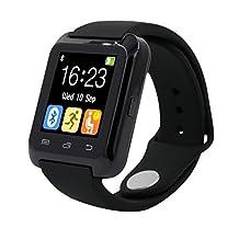 HP95 Bluetooth Smart Watch,U80 Smart Wrist Watch Sleep Monitor Sport Pedometer for iPhone LG Samsung (Black)