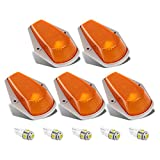 1996 f250 cab lights - Partsam 5pcs Top Clearance Cab Marker Roof Running Light Amber Cover Lens 15442 + 5050 T10 194 LED Bulbs Replacement For 1973-1997 Ford F150 F250 F350 Pickup Super Duty Trucks.