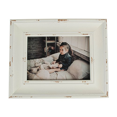 DII Z02240 Rustic Farmhouse Distressed Wooden Picture Frame for Wall Hanging or Desk Use 5x7 Antique ()