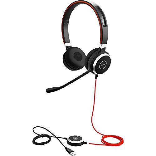 - Jabra Evolve 40 UC Stereo Wired Headset / Music Headphones (U.S. Retail Packaging) (Renewed)