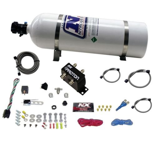 Nitrous Express 20421-15 Proton Plus Nitrous System with 15 lbs. Bottle by Nitrous Express