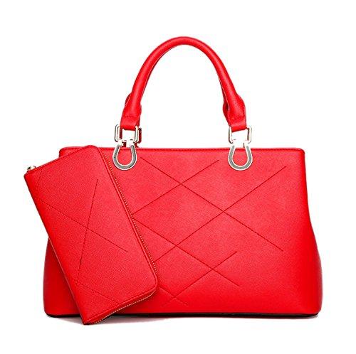 Mujer Bolsa Compuesta Traje De Dos Piezas Bolsos Moda Celosía Red