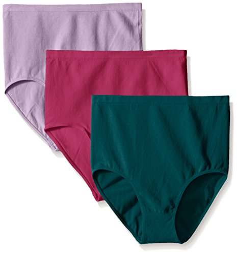 Ahh By Rhonda Shear Womens Cotton Blend Seamless Panty 3 Pack