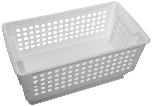 Rubbermaid Slide 'N Stack Basket, 11-inch, White (1837260)