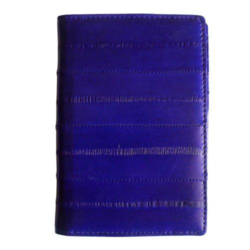 Rainbow Men's Women's Genuine Eel Skin Leather Passport Holder Cover Wallet (Purple)