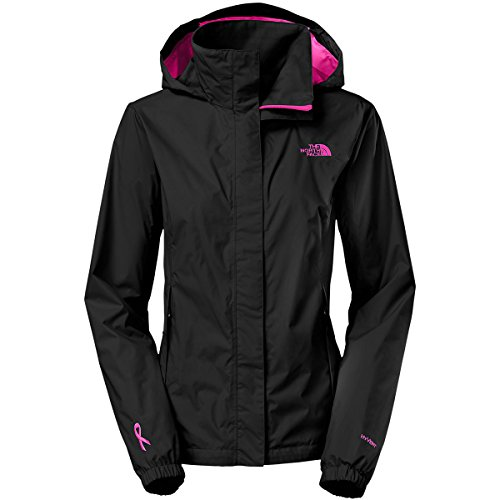 The North Face PR Resolve Jacket Womens TNF Black/Meadow Pink M (North Face Resolve Jacket Womens)