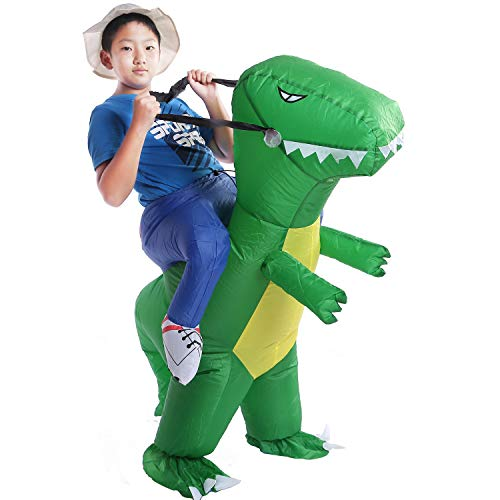 (starcourtyard Halloween Inflatable Dinosaur Costumes Adult Kids Carry Me Costumes)