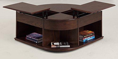 Progressive Furniture P543-25 Sebring Castered Double Lift-Top Cocktail Table, Cherry Medium - Corner Top Lift