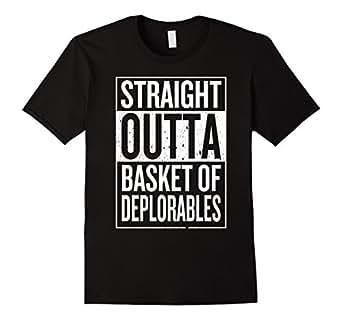 Men's Straight Outta Basket Of Deplorables T-Shirt 2XL Black